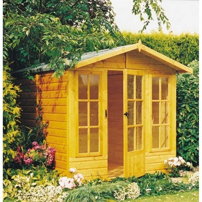 Shire Badminton 7 x 10 Summerhouse with 2 Opening Windows
