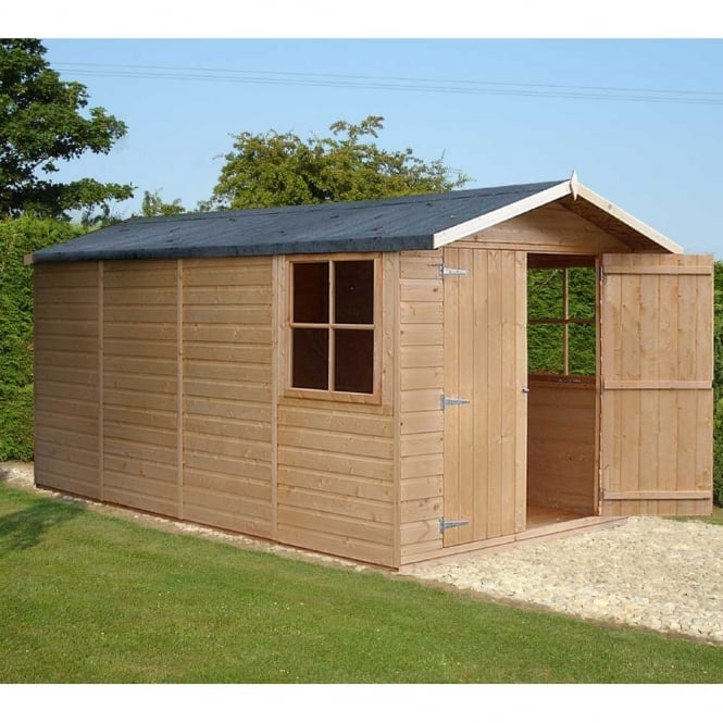 Shire Jersey Garden Shed 7ft x 13ft Double Door Shiplap