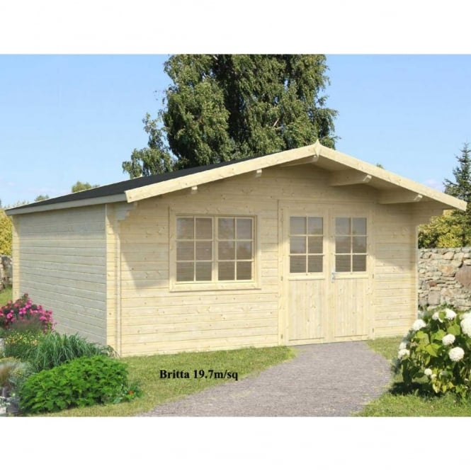 Britta 19.7 and 22.3m/sq - 2 sizes - 40mm wall Logs