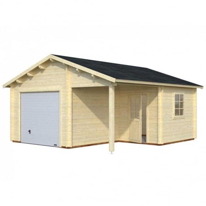 Log Cabin Garage 4 5.3m x 5.7m
