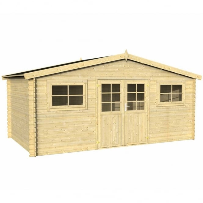 Lodz 1 Log Cabin 5m x 3m FSC Timber