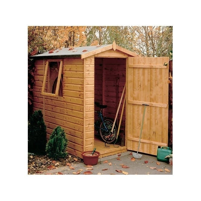 Shire Shiplap Apex 7x 5 Garden Shed Single Door - Opening Window