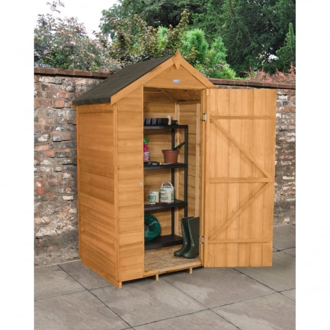 Forest Garden 4 x 3 Overlap Dip Treated Apex Shed
