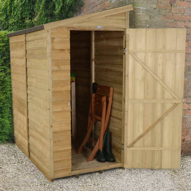 Forest Garden 3 x 6 Overlap Pressure Treated Pent Wall Shed
