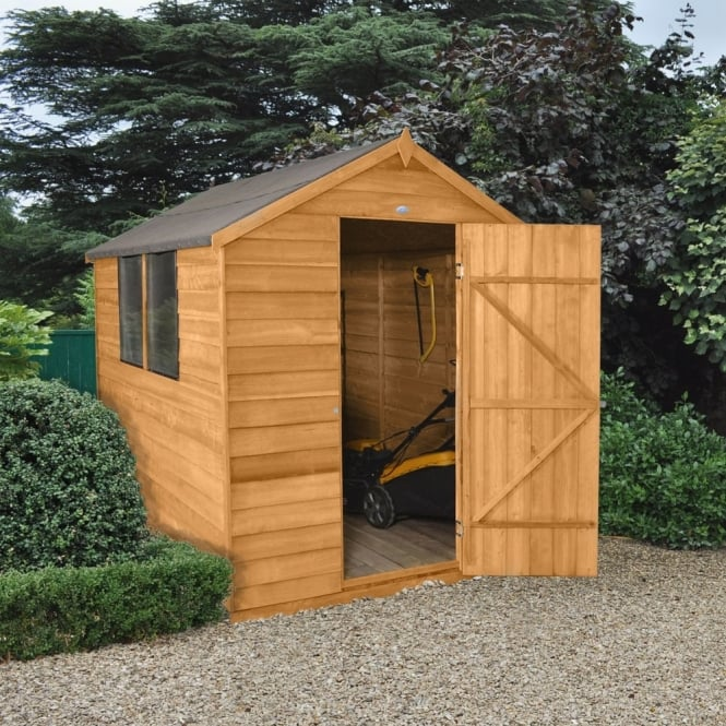 Forest Garden 6 x 8 Essential Overlap Dip Treated Shed