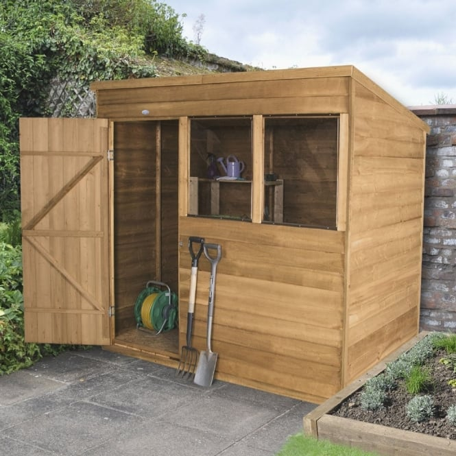 Forest Garden 7 x 5 Overlap Dip Treated Pent Shed