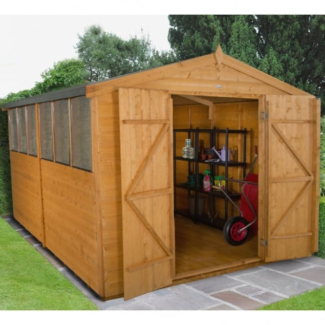 Forest Garden 8 x 12 Shiplap Dip Treated Apex Shed