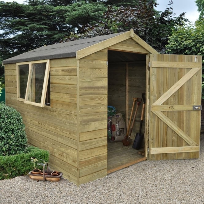 Forest Garden 6 x 8 Premium Tongue and Groove Pressure Treated Apex Shed
