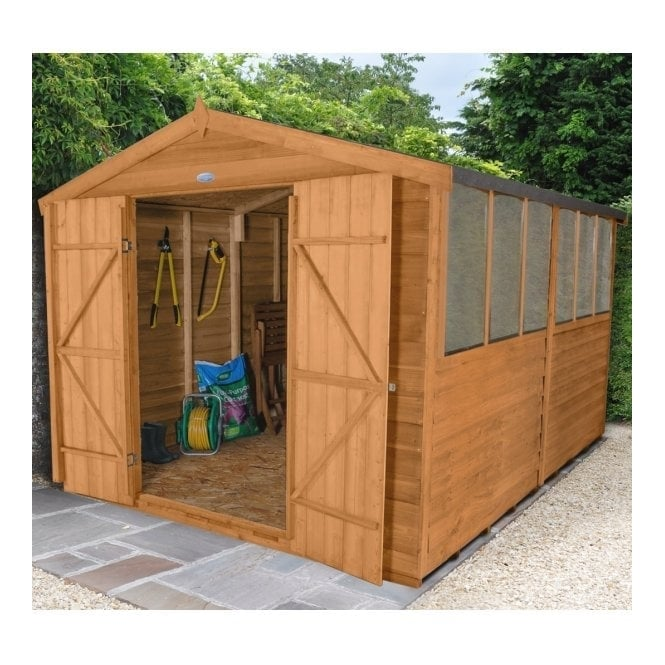 Forest Garden 8 x 12 Overlap Dip Treated Apex Shed