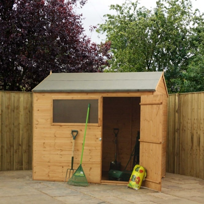Mercia 8 x 6 Shiplap Reverse Apex Shed Single Door