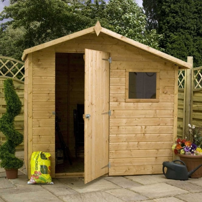 Mercia 7 x 5 Shiplap Offset Apex Shed Single Door