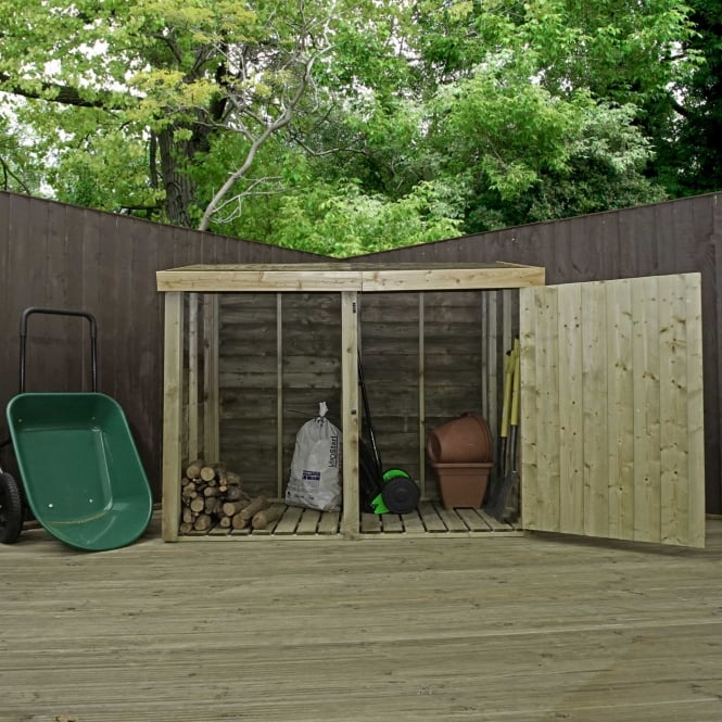 Mercia 3 x 7 Pressure Treated Overlap Double Storage Unit