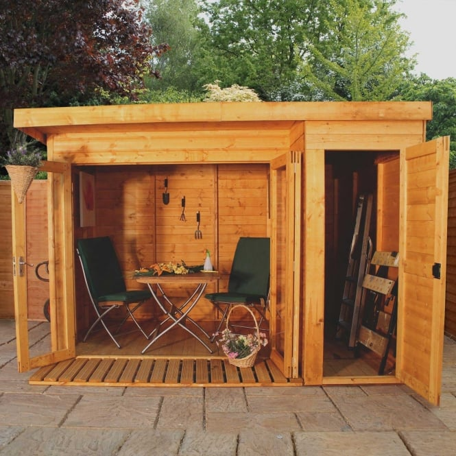 Mercia 10 x 8 Garden Room Summerhouse with Side Shed