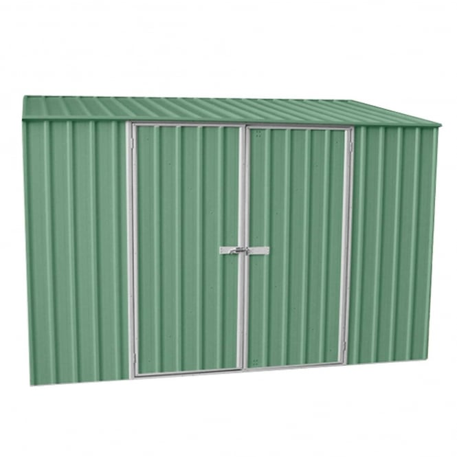 Mercia ABSCO 10 x 5 Space Saver Metal Shed in Pale Eucalyptus