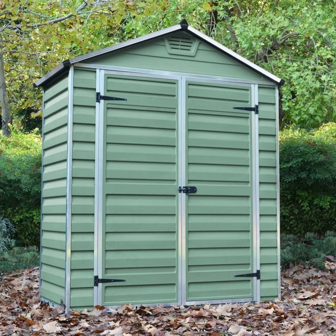 Mercia 3 x 6 Green Apex Plastic Shed