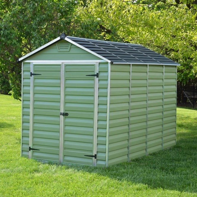 Image of 10 x 6 Green Apex Plastic Shed