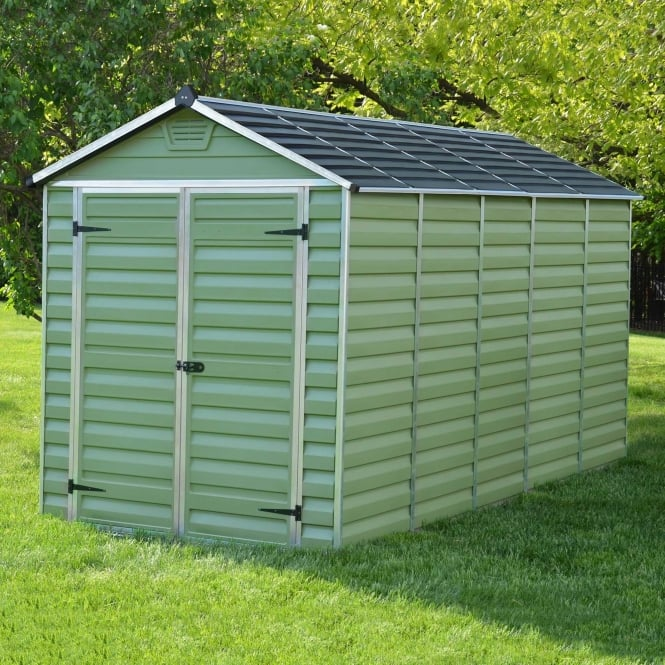 Image of 12 x 6 Green Apex Plastic Shed