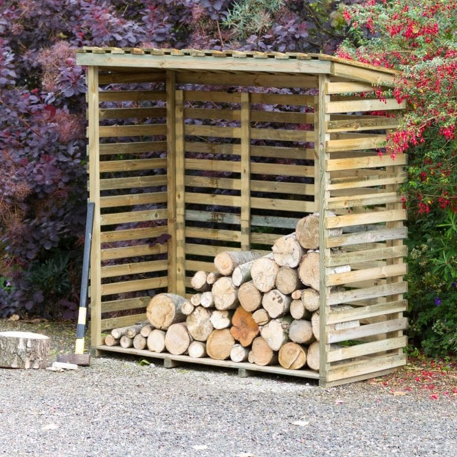 Zest Large Log Store with Back