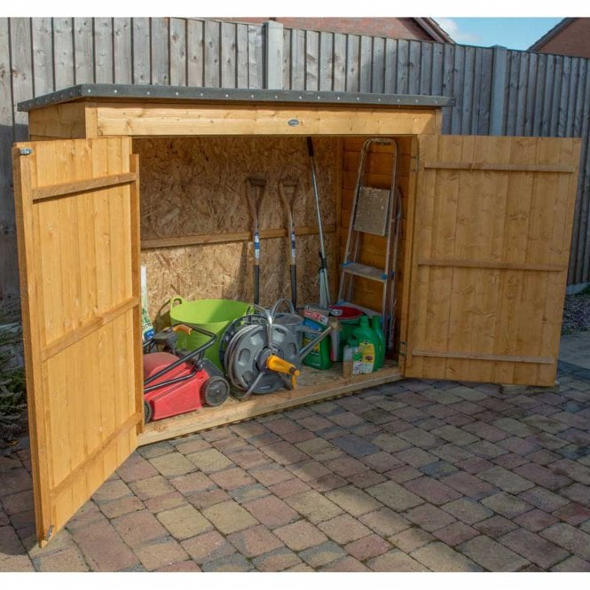 Forest Garden Dip Treated Overlap Pent Large Outdoor Store
