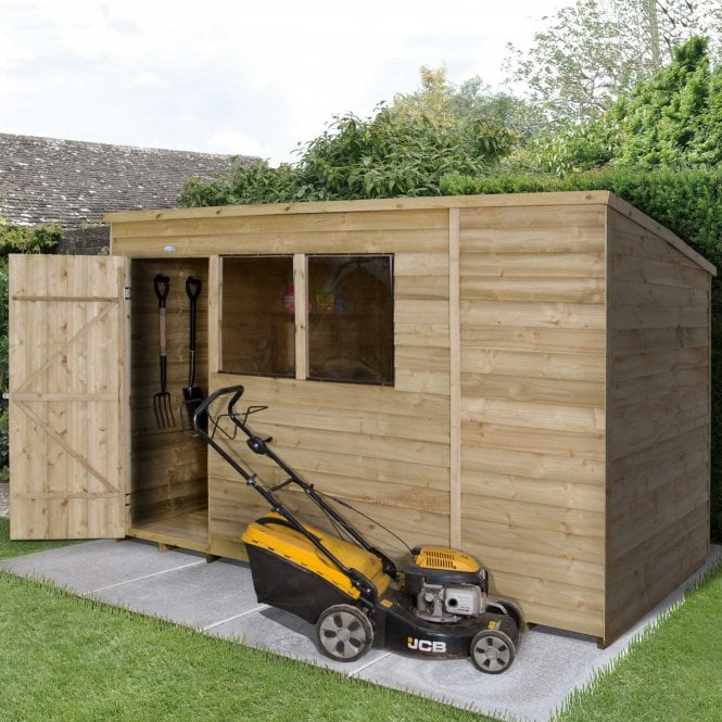 Image of 10 x 6 Overlap Pressure Treated Pent Shed