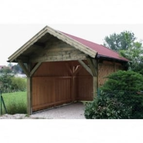Carport Premium 3.4m x 4.3m With Rear Canopy