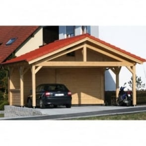 Carport Prestige 5.96m x 5.06m for 2 Cars