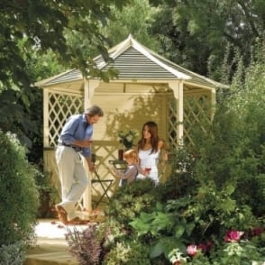 Rowlinson Gainsborough Gazebo with Trellis Panels
