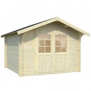 Whitewood Lancaster Log Cabin 3 Sizes: 2.5m x 2.5m/2.95m x 2.5m/2.95m x 2.95m