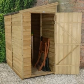 3 x 6 Overlap Pressure Treated Pent Wall Shed