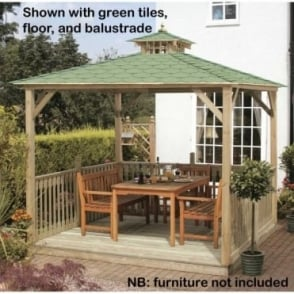 Jagram Lindrick Canopy with Wooden or Tiled Roof