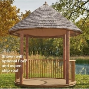 Jagram Arondine Gazebo with Aspen Chip, Cedar, or Shingle Roof