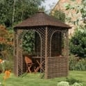 Rowlinson Hexagonal Willow Gazebo