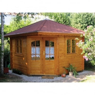 Panta 4 45mm Wall Corner Cabin with Double Glazing