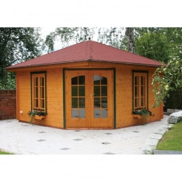 Panta 5 45mm Wall Corner Cabin with Double Glazing 400 x 400cm