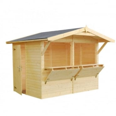 Stella 5.0m/sq Market Stall with 2 x Opening Serving Hatch