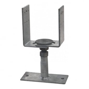 Adjustable Galvanised Post Feet