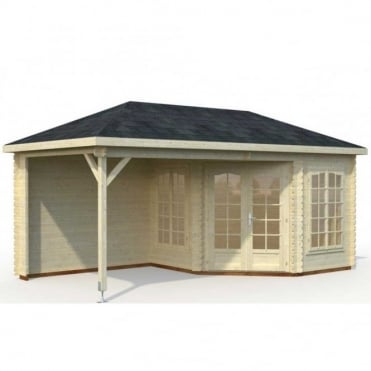 Melanie 6.8 + 8.3m/sq Summer House with Veranda