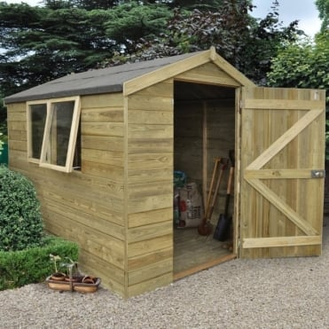 6 x 8 Premium Tongue and Groove Pressure Treated Apex Shed