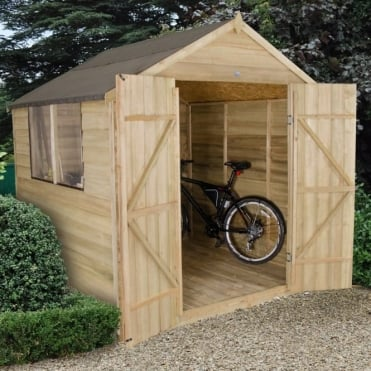 7 x 7 Overlap Pressure Treated Apex Shed