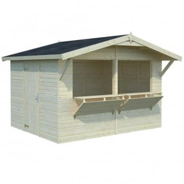 Stella 8.20m/sq Market Stall with 2 x Opening Serving Hatch