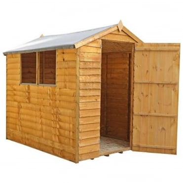 Mercia 7 x 5 Overlap Apex Shed Single Door