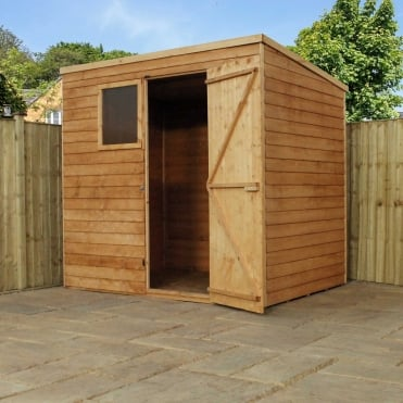 Mercia 7 x 5 Overlap Pent Shed Single Door