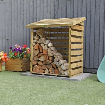 Mercia 3 x 3 Pressure Treated Overlap Single Log Store