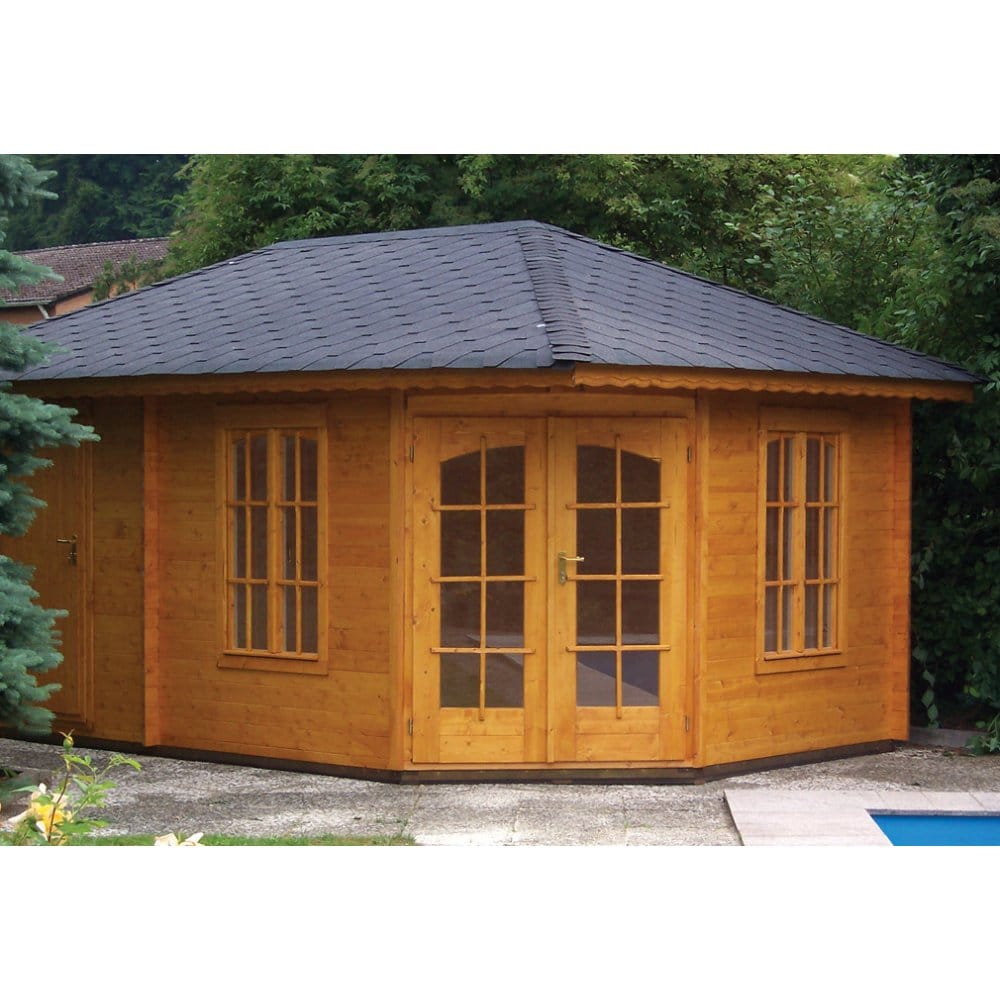 bertsch panta 3 two roomed corner log cabin x. Black Bedroom Furniture Sets. Home Design Ideas