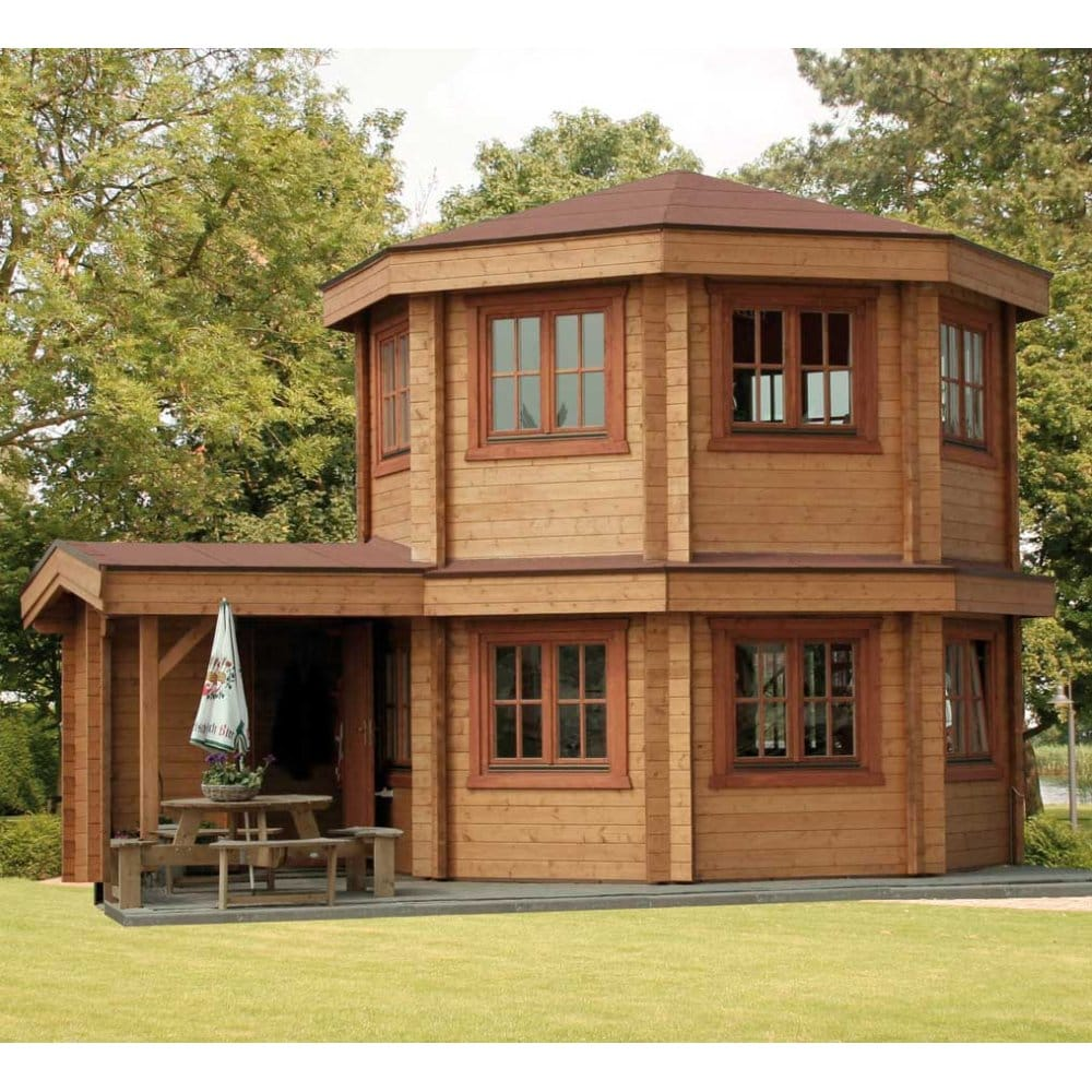 Bertsch toulouse log cabins summer house two storey for Log cabin for two