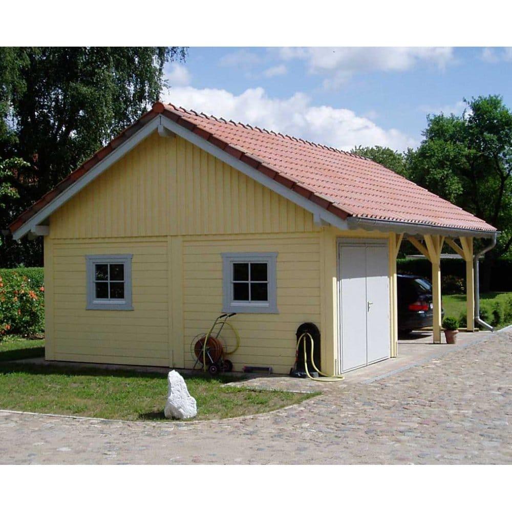 Bertsch Premium Garage With DOUBLE Carport, 9m X 5.8m Post
