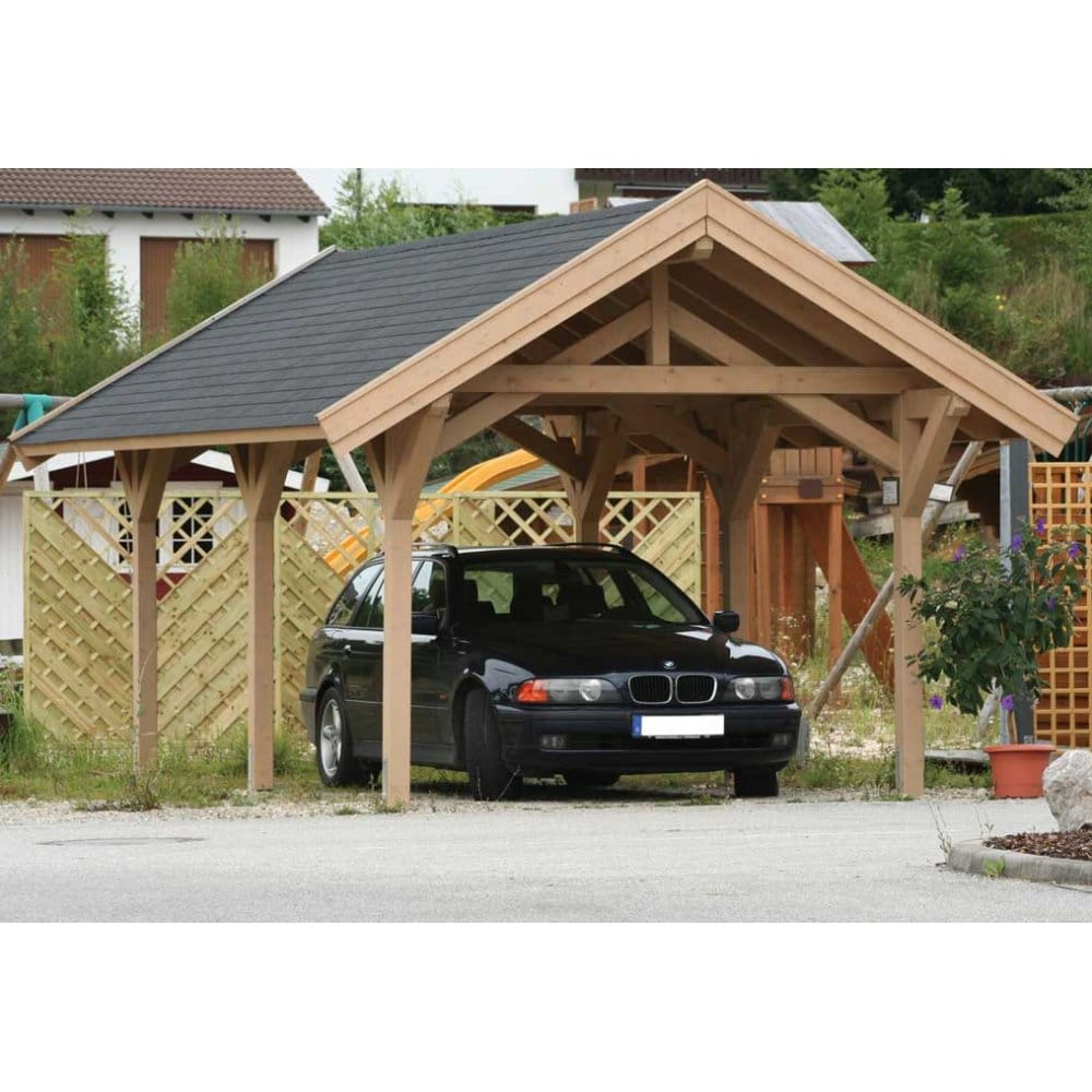 Bertsch Prestige Carport 304cm X 516cm Feauring Post And