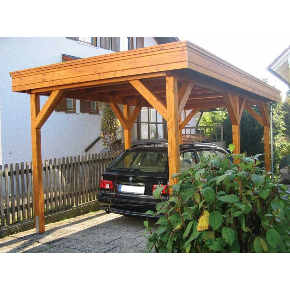 Colorado Flat Roof Carport : Bertsch single carport featuring flat roof construction