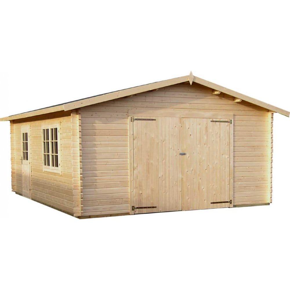 Gudrum classic garage 2 x featuring garage door options and double glazing - Double wooden garage doors ...