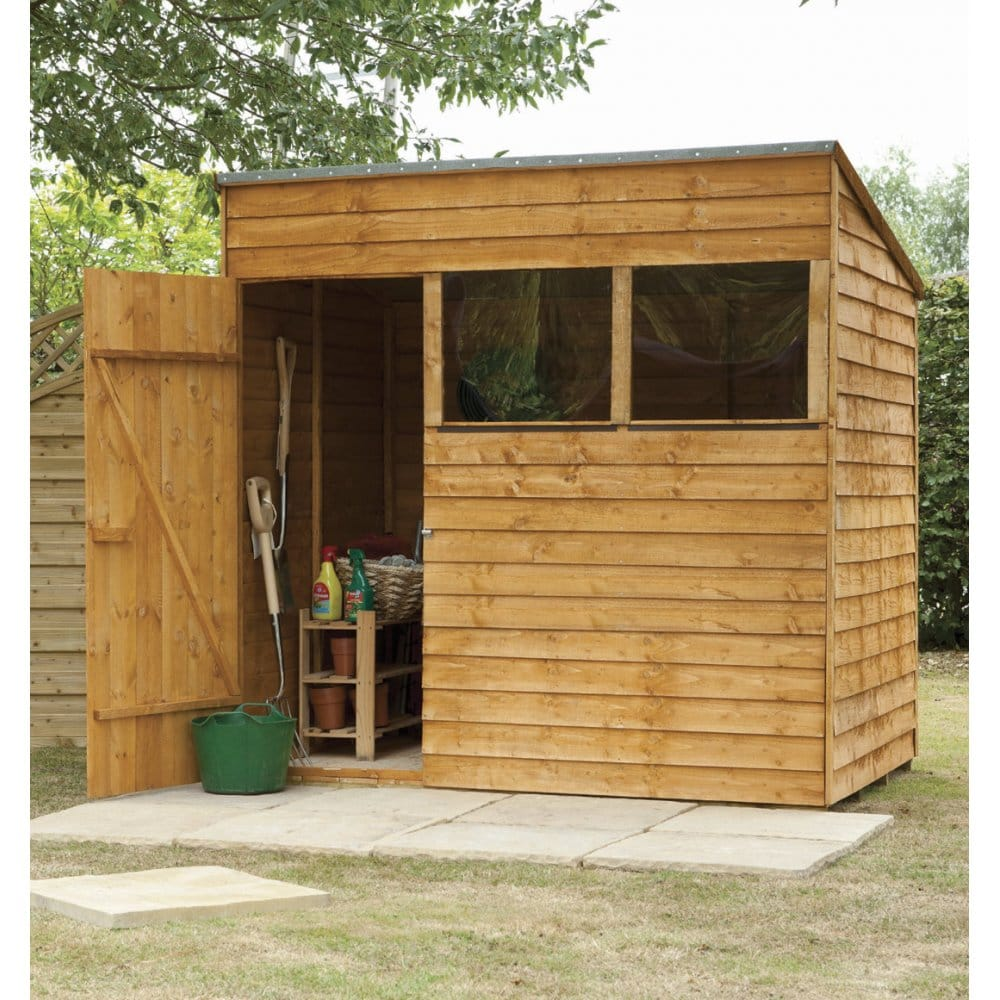 forest garden 7x5 premium overlap pent shed